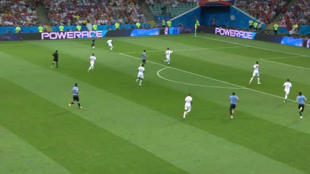 Russia: Uruguay send Ronaldo and Portugal home with 2-1 win