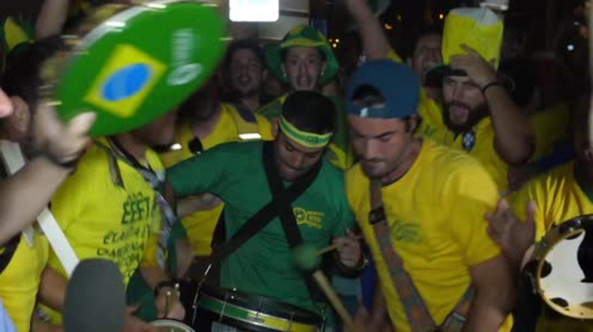 Russia: Brazilian team welcomed to Samara with CARNIVAL