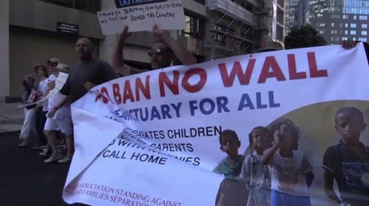 EE.UU.: Miles de personas marchan en San Francisco contra las políticas de inmigración de Donald Trump