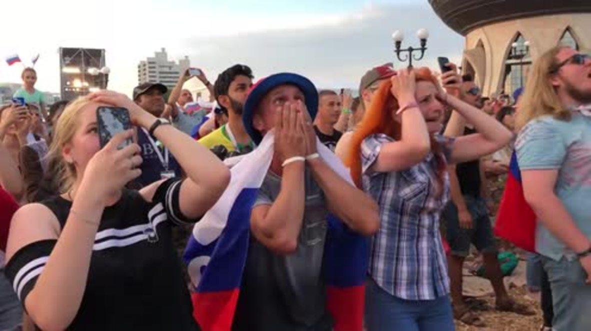 Russia: Adios Espana! Fans across Russia indulge in Spain's shootout pain