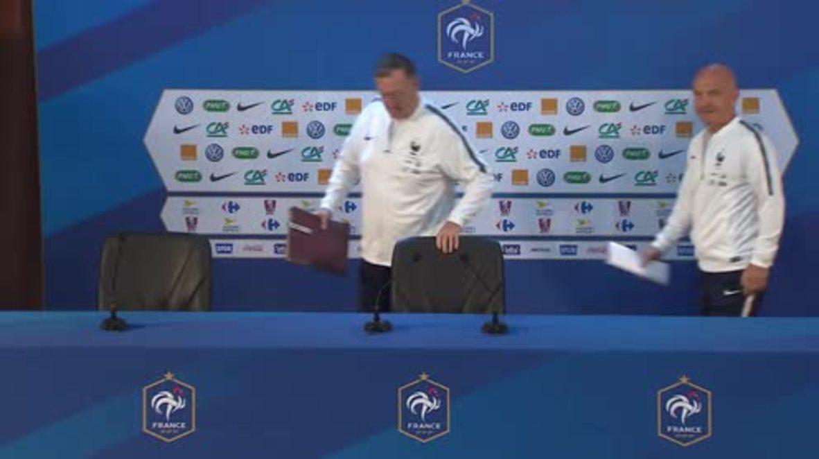 Rusia: El equipo francés entrena para su partido contra Uruguay
