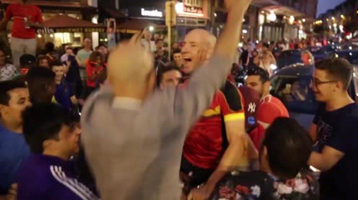 Bélgica: Bruselas celebra que Bélgica se acerca a la semifinal