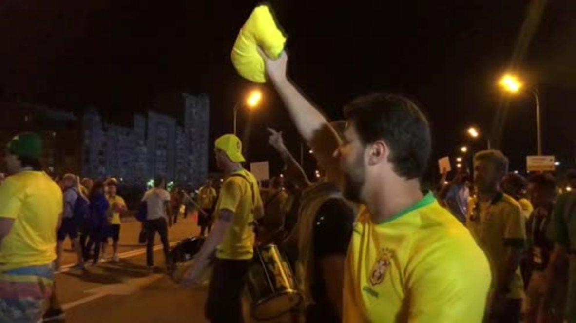 Russia: Brazil fans party on in Kazan despite shock WC exit