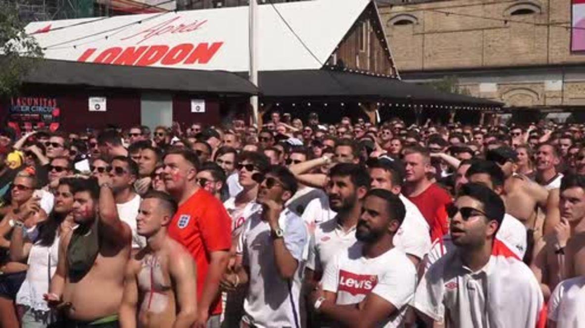 UK: London goes f'ing MENTAL as England score against Sweden