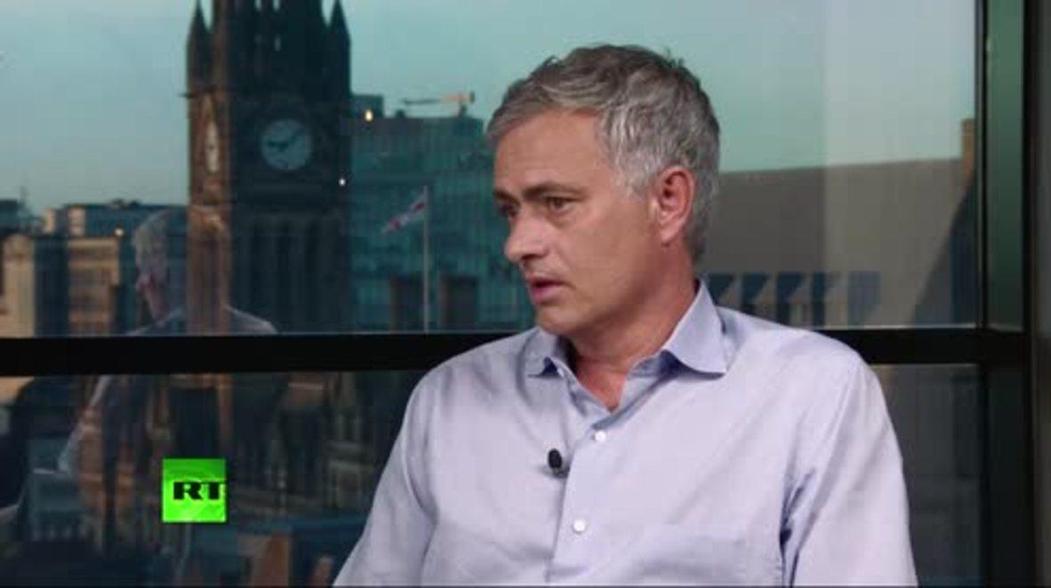 """Reino Unido: """"Tienen que ser ellos mismos"""" - Mourinho aconseja a los jugadores de la selección inglesa"""