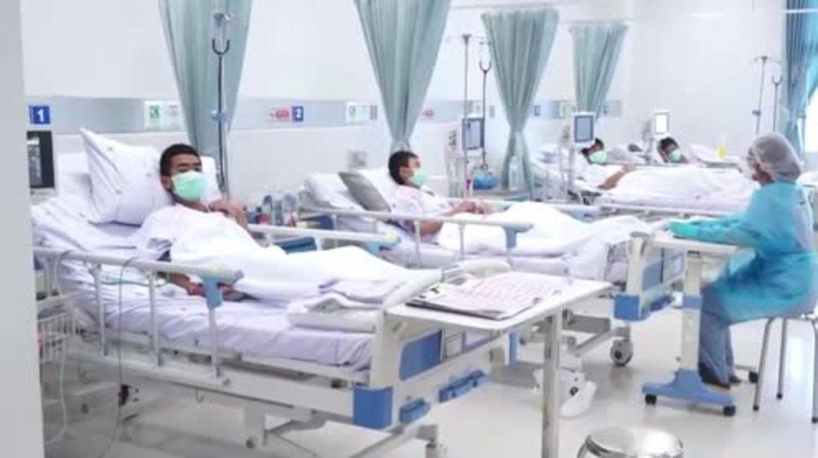 Tailandia: Los niños rescatados inician el proceso de recuperación en el hospital de Chiang Rai