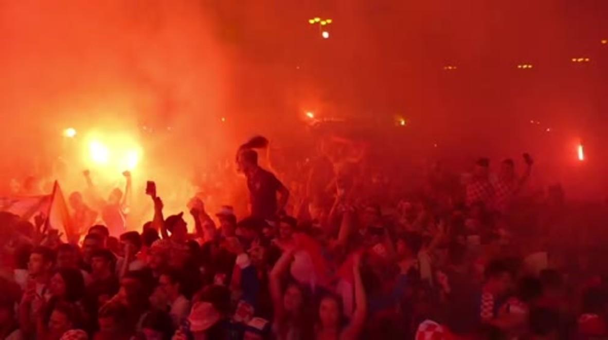 Croacia: Zagreb enloquece con la victoria de Croacia en semifinales