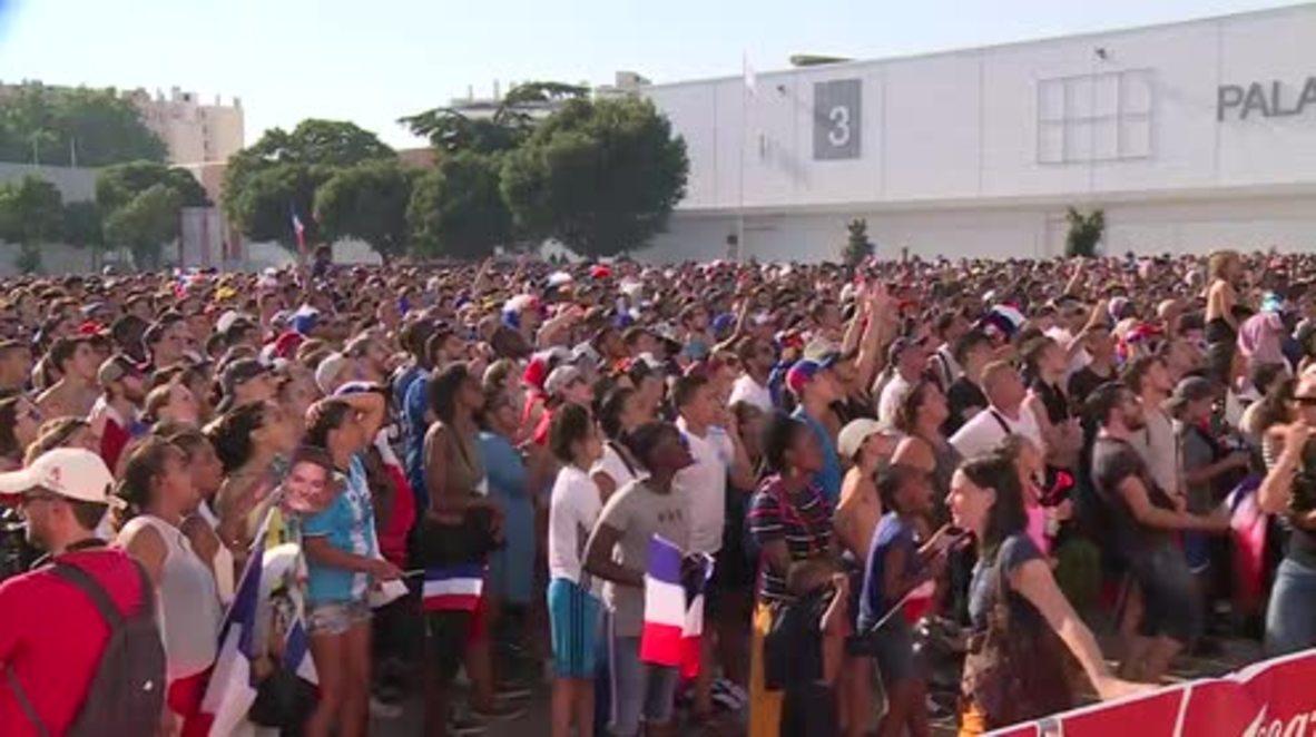 Francia: Marsella celebra el cuarto gol de Francia