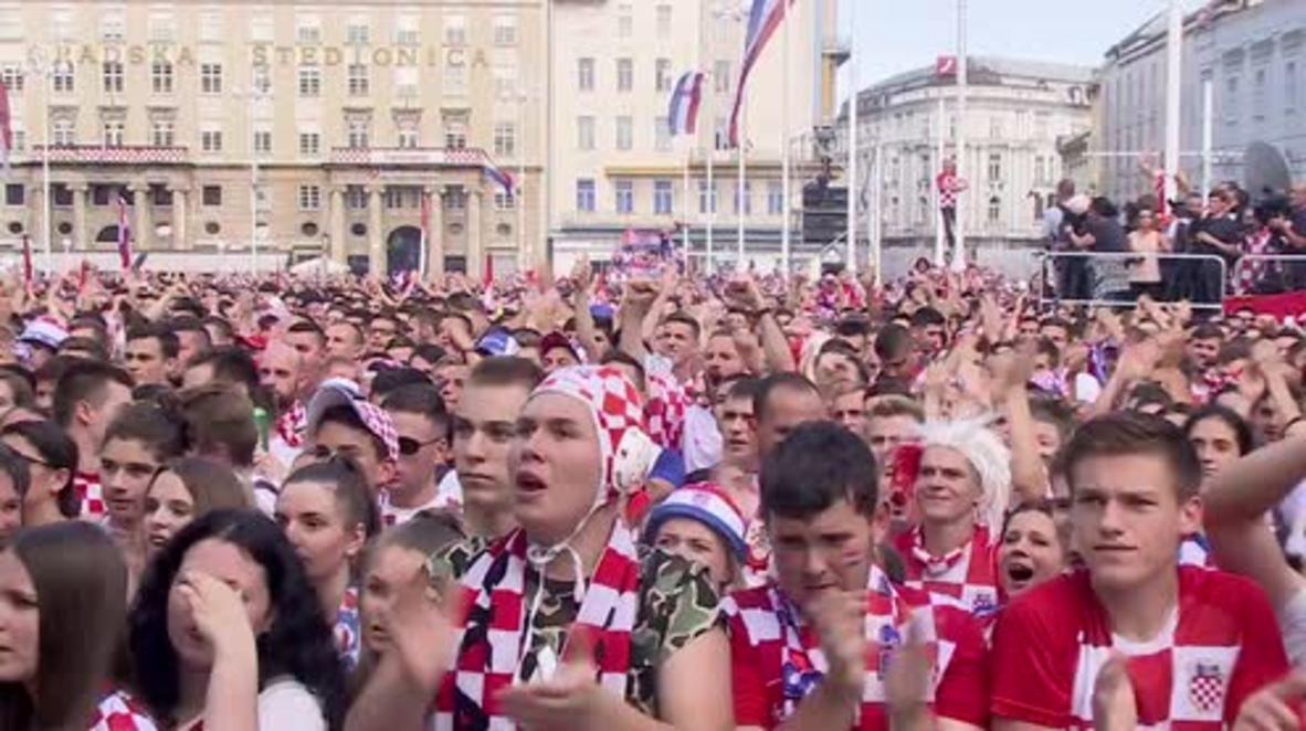 Croatia: Fans praise 'phenomenal' football team despite losing WC title