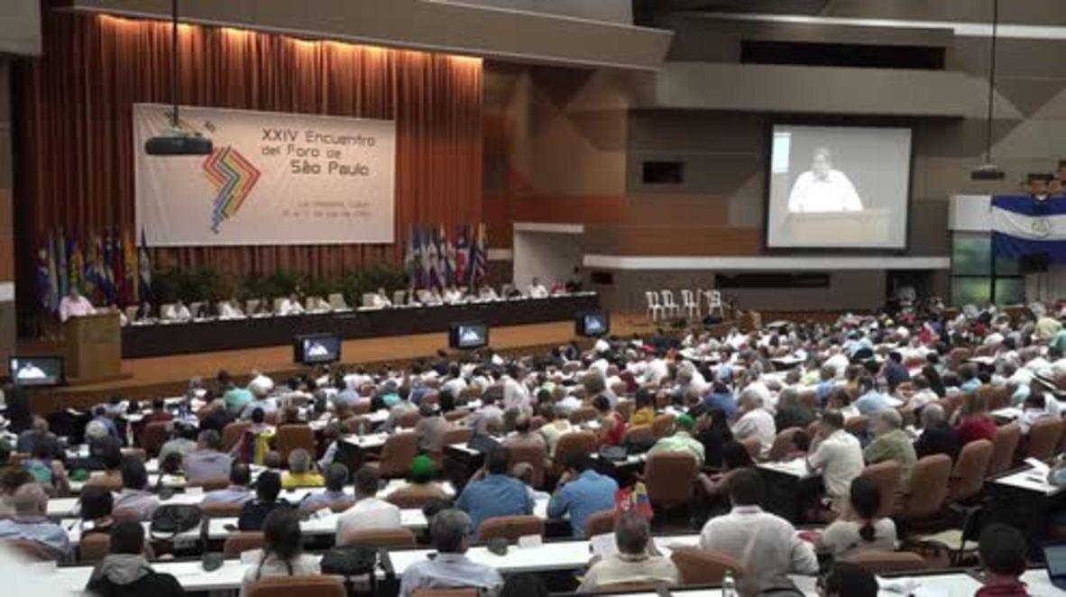 Cuba: La 24 edición del Foro de Sao Paulo comienza en La Habana