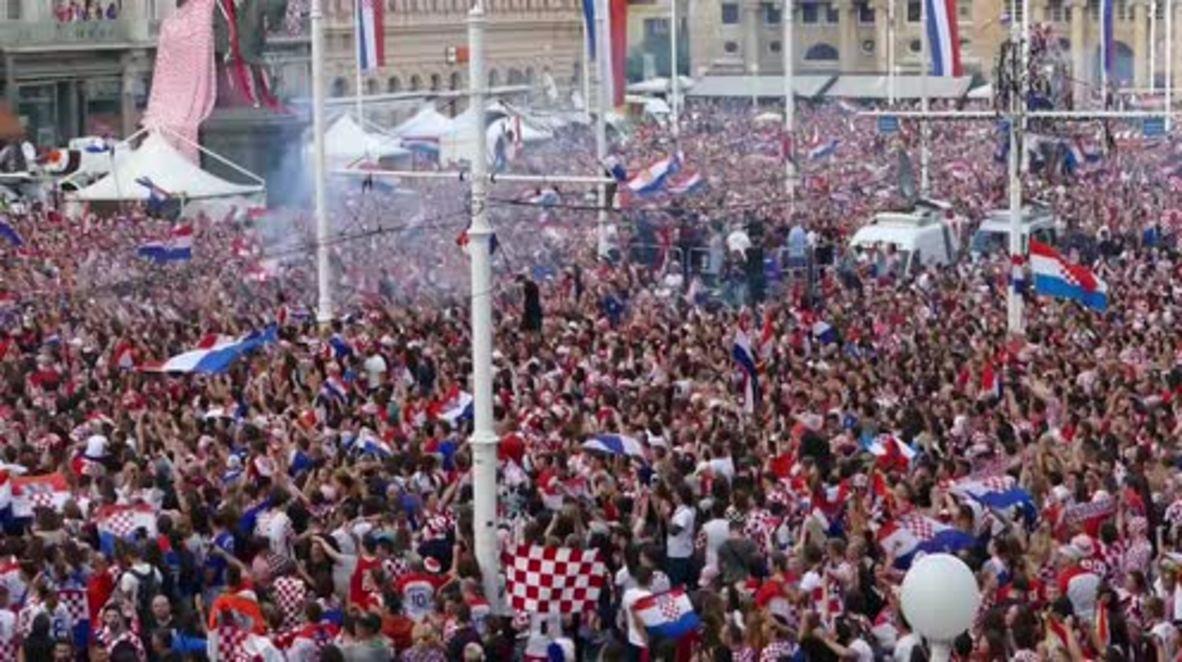 Croacia: Los aficionados croatas están muy orgullosos de la participación de su equipo en la final de la Copa del Mundo