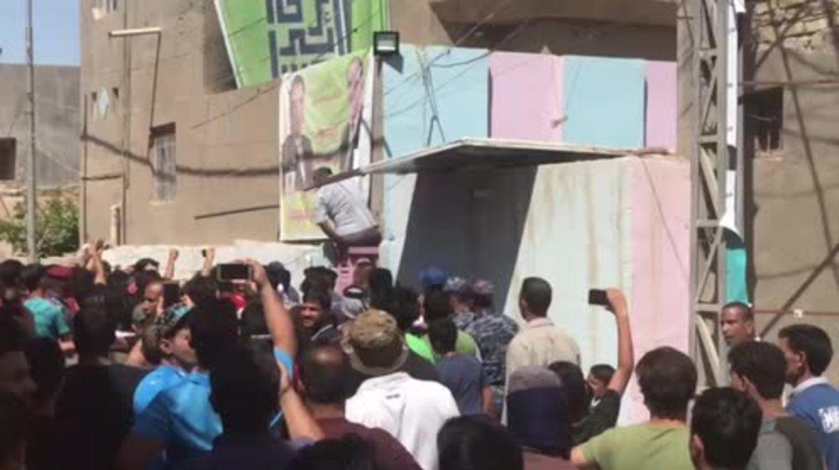 Irak: Manifestantes irrumpen en la oficina del partido Dawa en Hilla