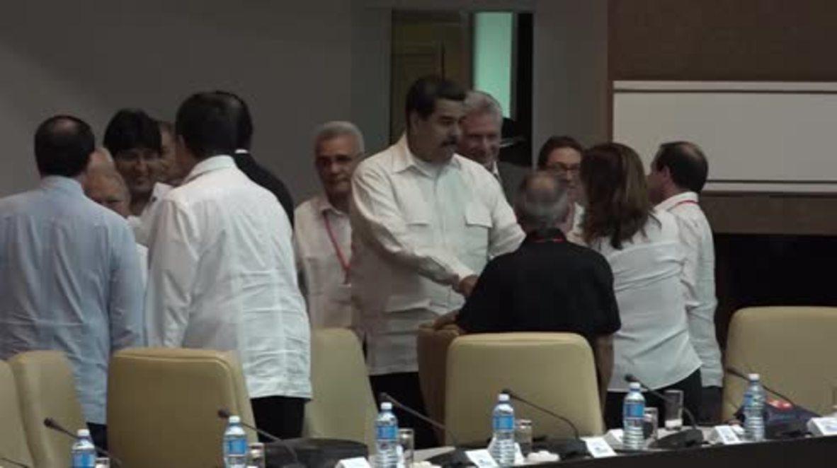 """Cuba: Los líderes latinoamericanos instan a """"derrocar"""" a la derecha en el cierre del Foro de Sao Paulo"""