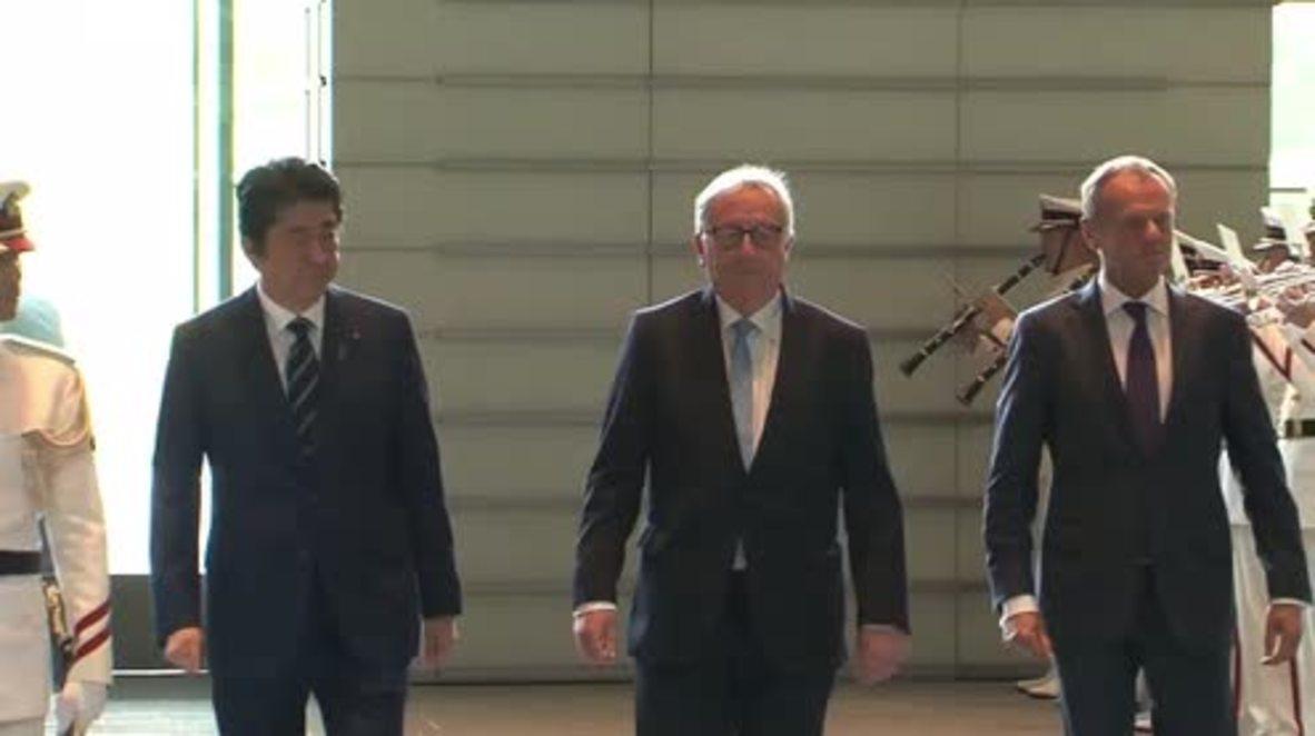 Japón: La UE y Japón firman un acuerdo comercial histórico en Tokio