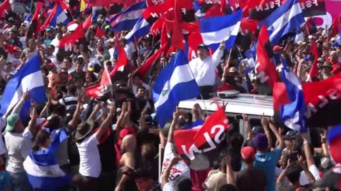Nicaragua: Miles de personas muestran su apoyo a Daniel Ortega en el aniversario de la revolución sandinista