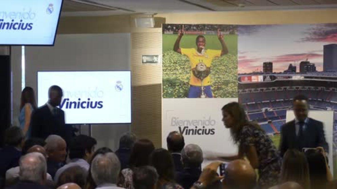 España: Real Madrid da bienvenida a la sensación brasileña del fútbol, Vinicius Junior