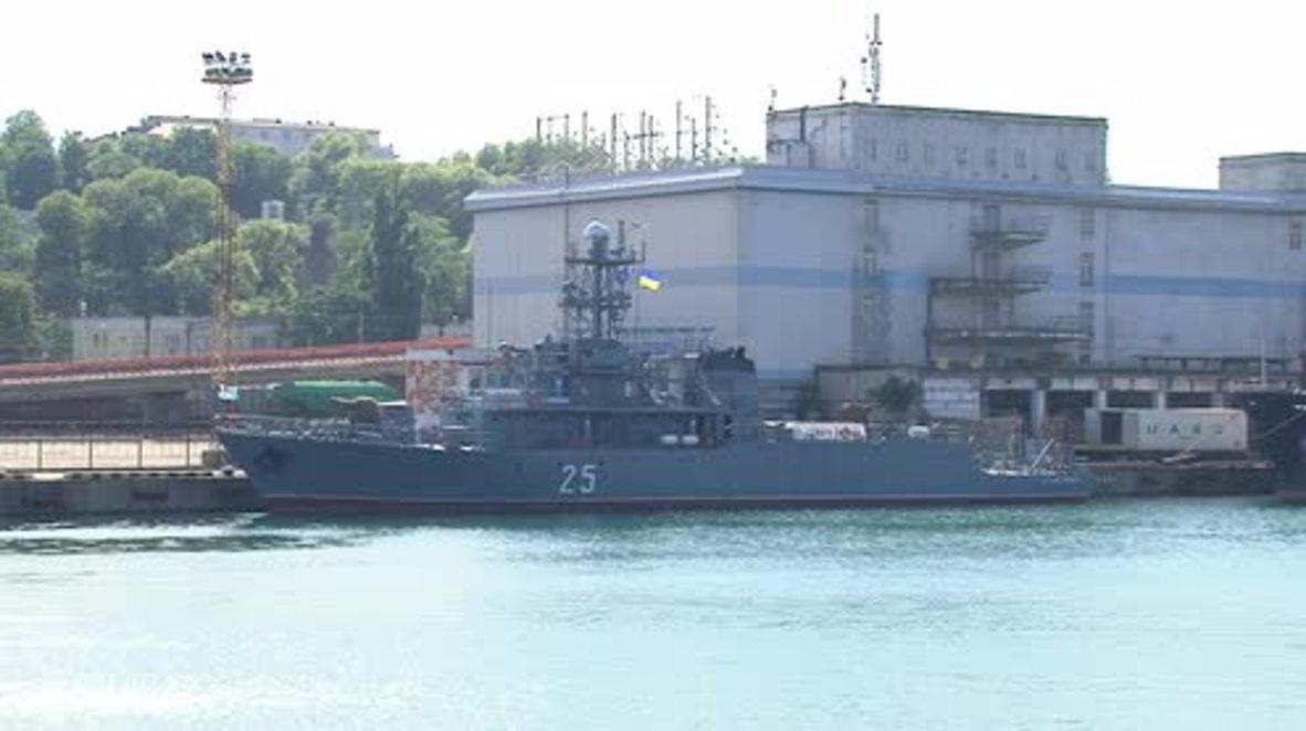 Ucrania: Buques de cuatro países de la OTAN entran en el puerto de Odesa