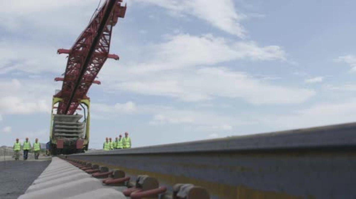 Russia: Construction begins on Kerch Strait Bridge Railway