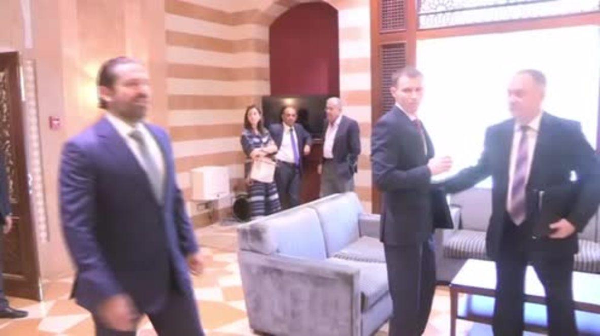 Lebanon: Russian diplomats meet Hariri to discuss Syrian refugees' return