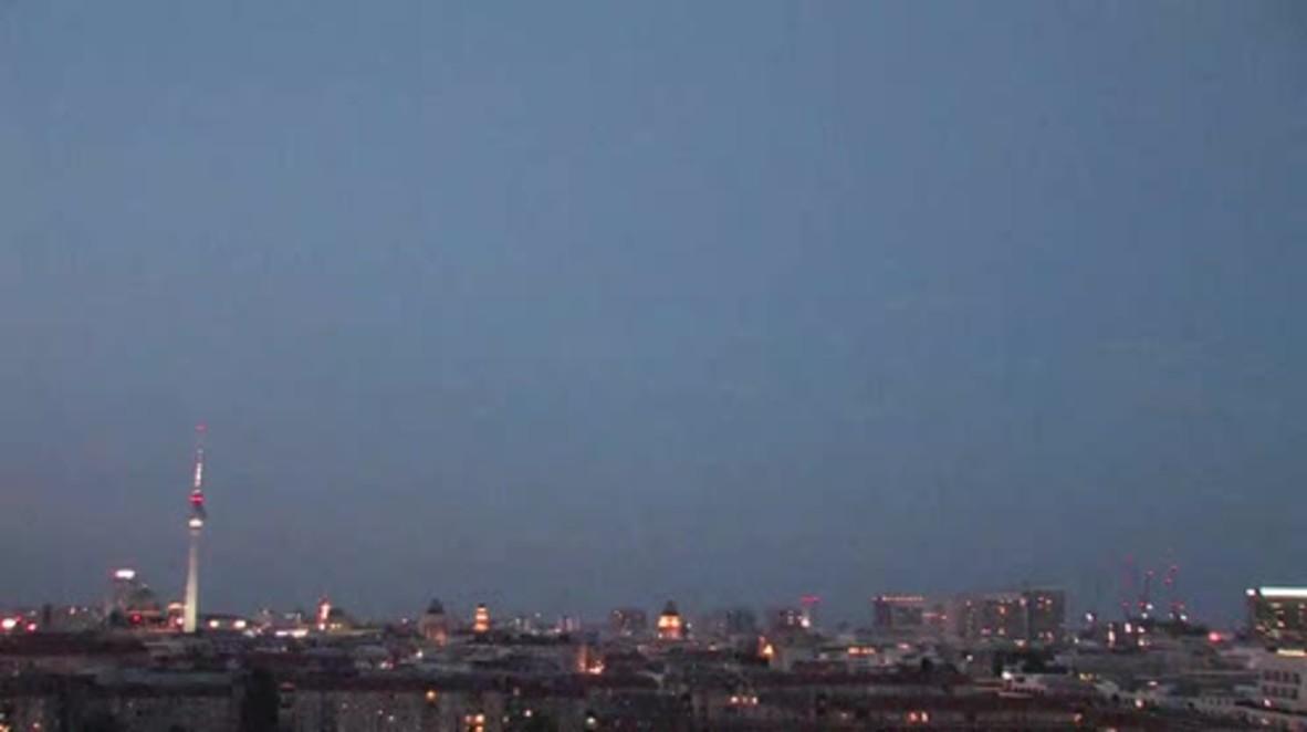 Germany: Blood moon burns bright over Berlin's night sky