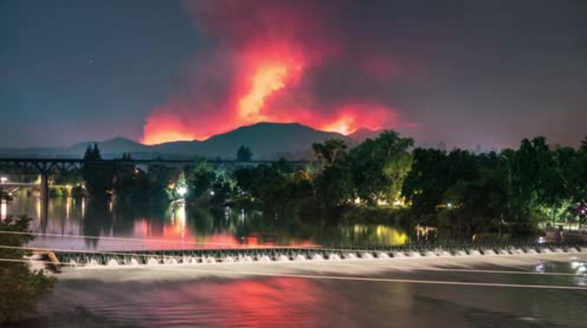 EE. UU.: Timelapse muestra la horrible extensión del incendio forestal en California