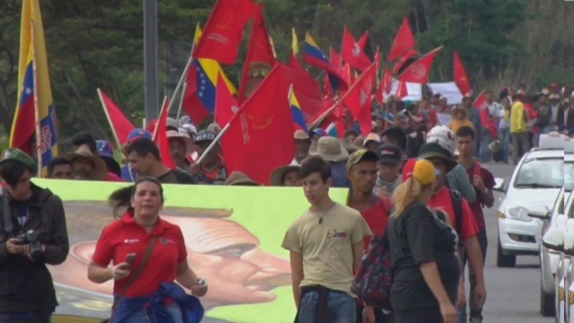 Venezuela: Protesting farmers reach Caracas after nearly 500km march