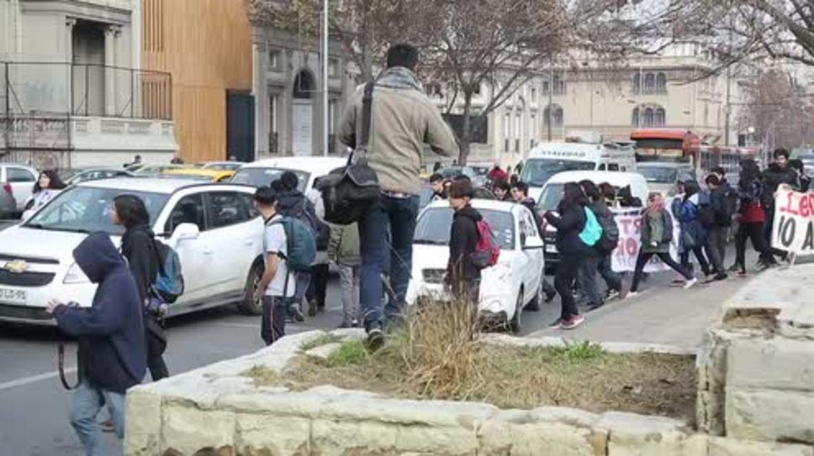 Chile: Los estudiantes de Santiago protestan contra la nueva ley laboral joven