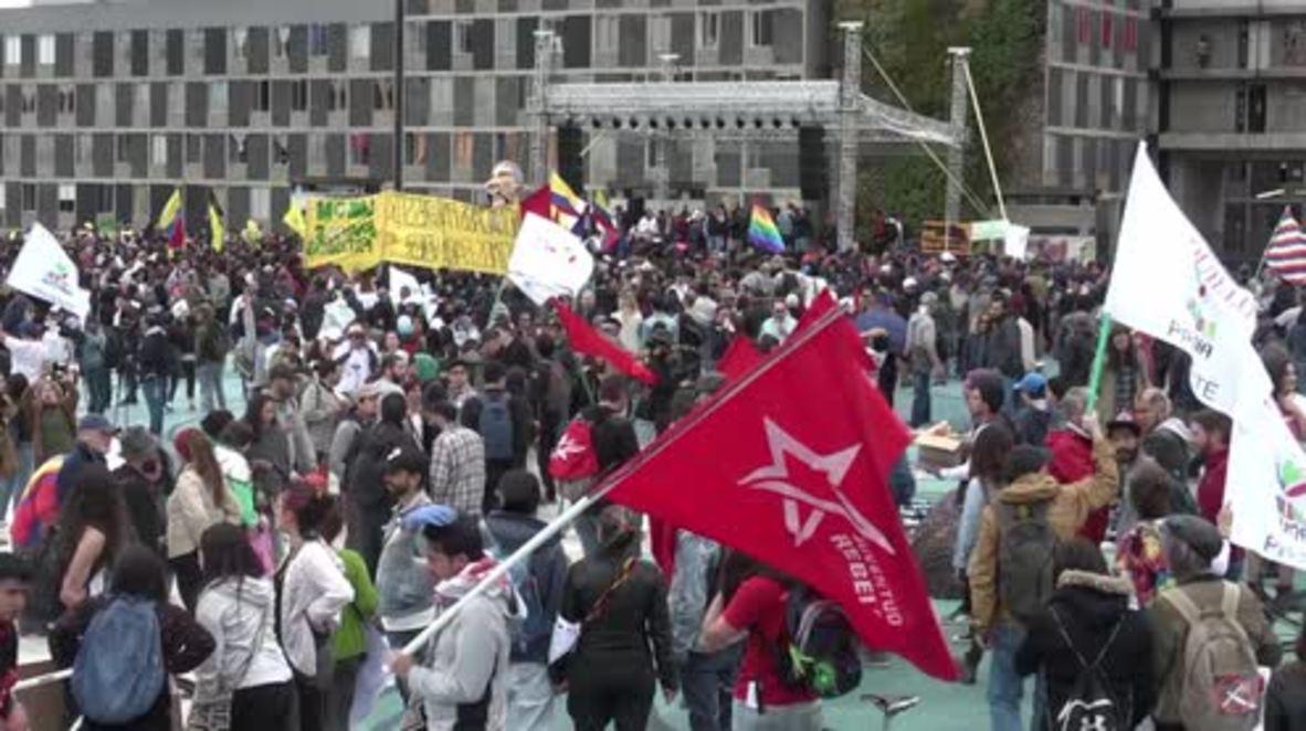Colombia: Inauguración del nuevo presidente, marcada por las protestas de oposición
