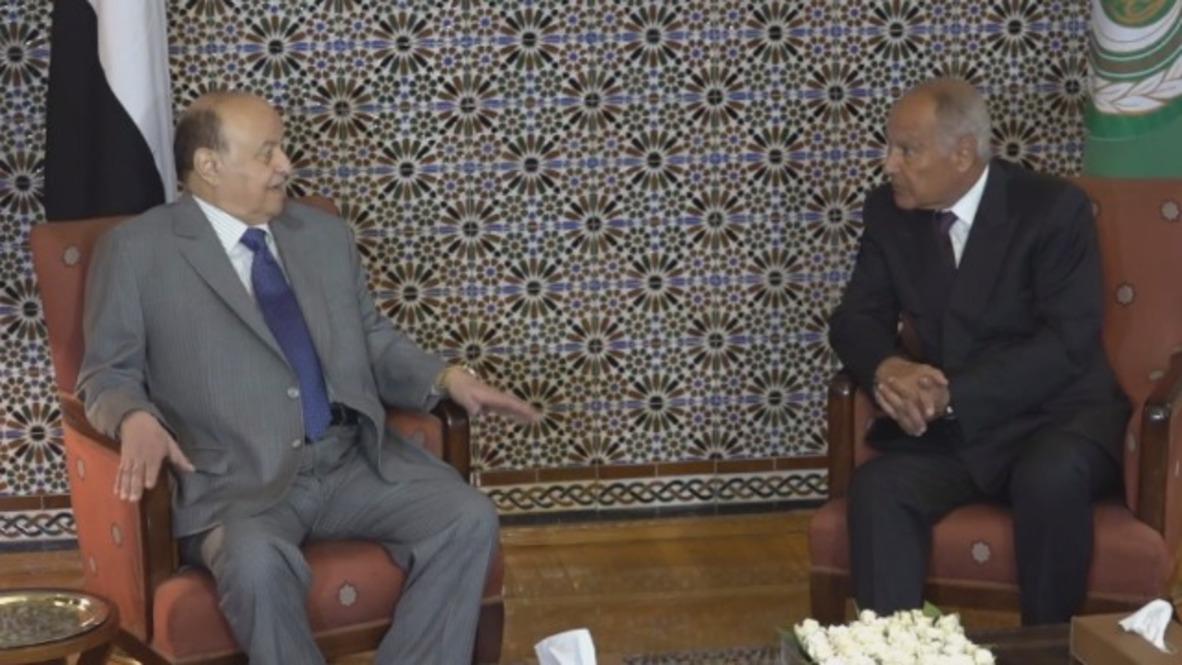 Egypt: Yemeni President Hadi meets Arab League Chief Gheit in Cairo