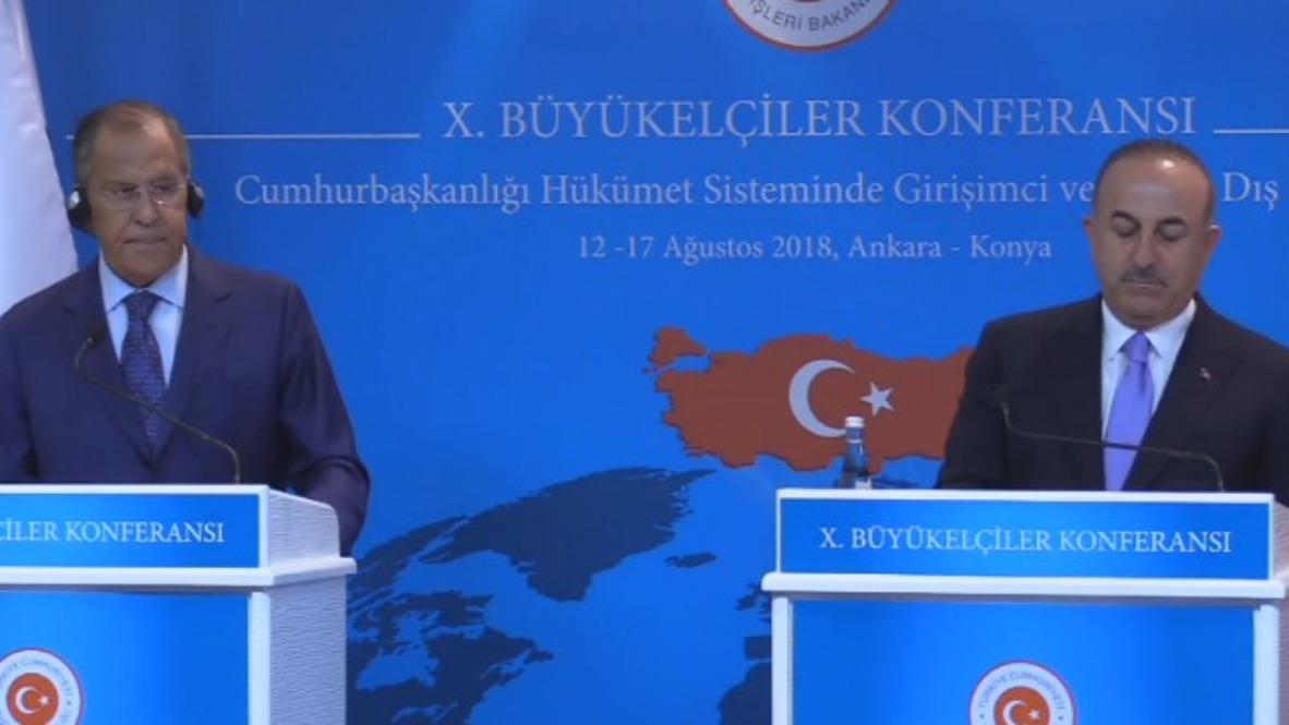 Turkey: Lavrov, Turkish FM Cavusoglu comment on operations in Idlib