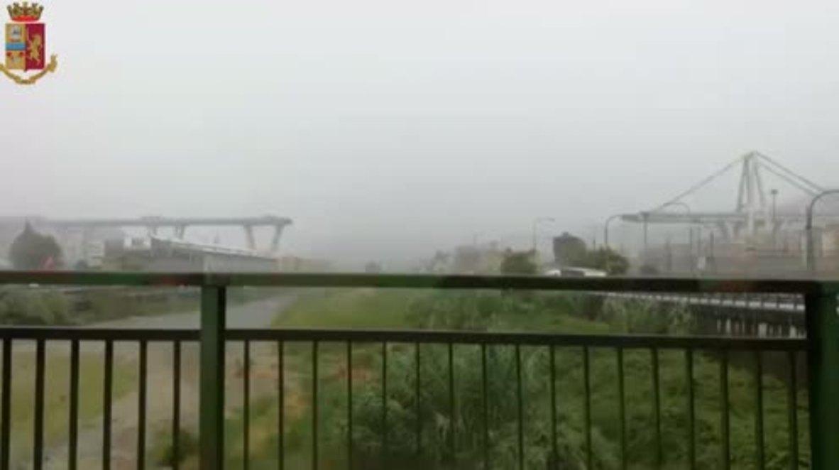 Italia: Decenas de muertos por el desplome de un puente en Génova * FOTOGRAFÍAS *