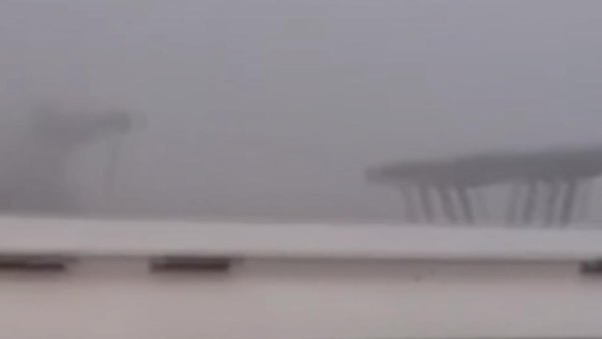 Italia: El momento dramático de la caída del puente de Génova