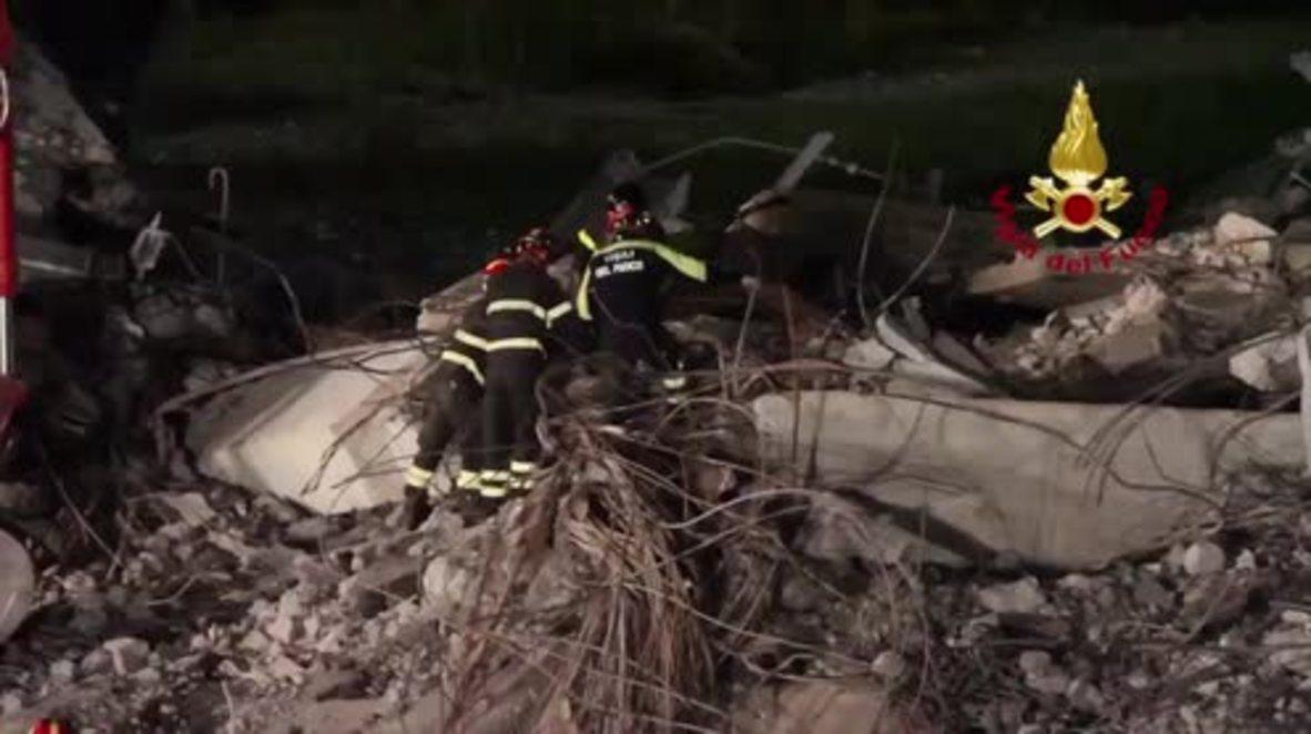 Italia: Continúan las labores de rescate tras la tragedia del puente en Génova