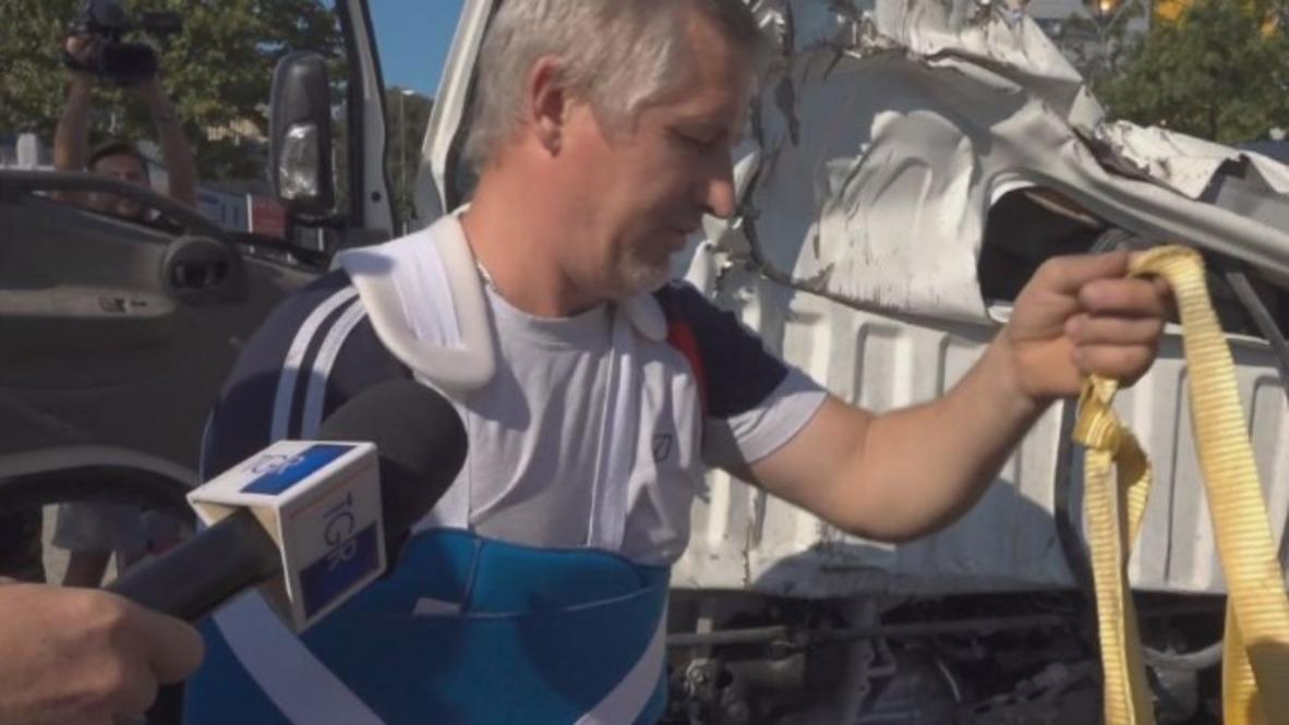 Italy: 'Miraculous' survivor of Genoa bridge disaster recounts experience