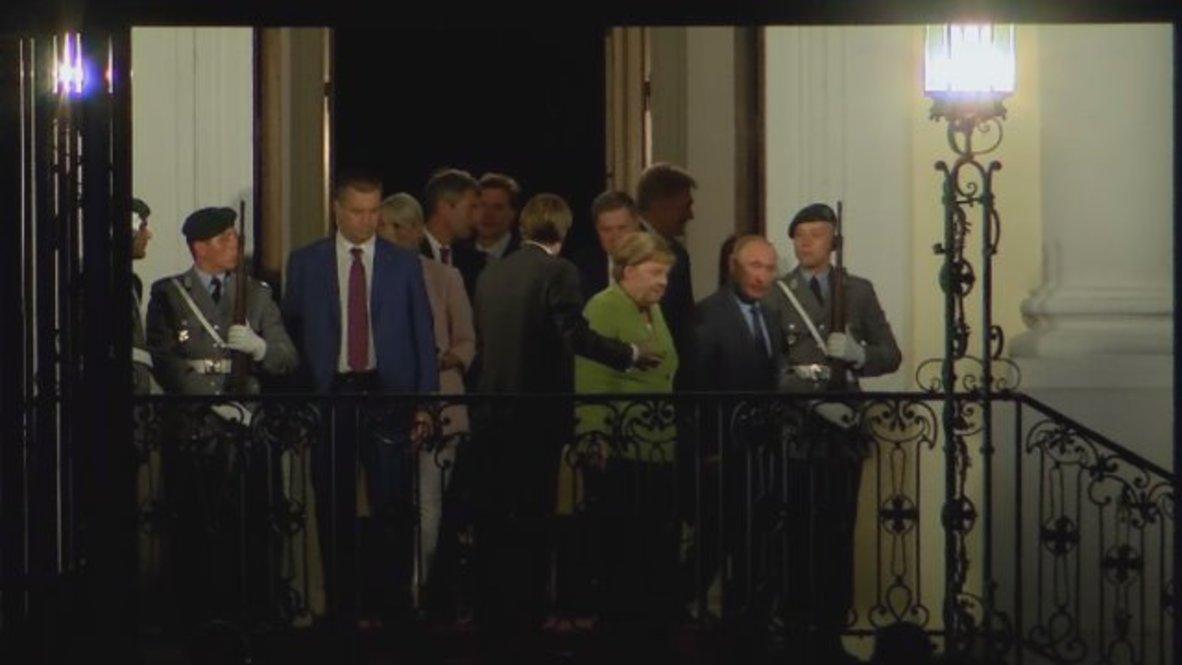 Germany: Putin leaves Merkel retreat after three hours of talks