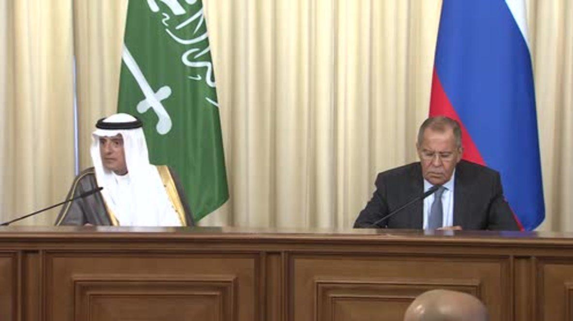 Russia: Syria dominates talks between Lavrov and Saudi FM