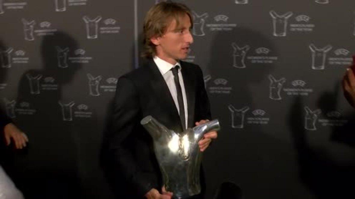 Mónaco: Modric gana el premio al mejor jugador del año de la UEFA