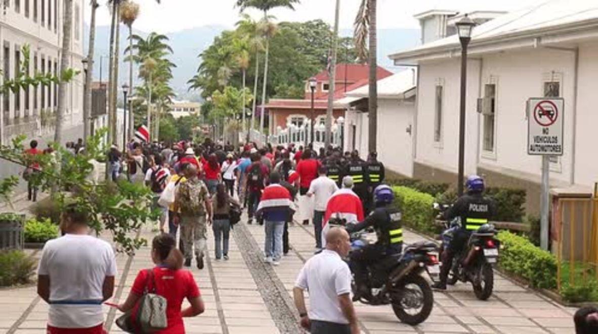 Costa Rica: Hundreds protest against Nicaraguan migrants in San Jose