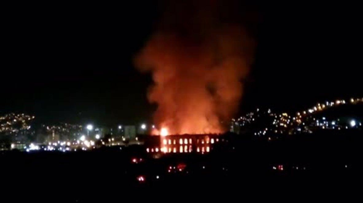 Brazil: Huge fire engulfs National Museum in Rio de Janeiro