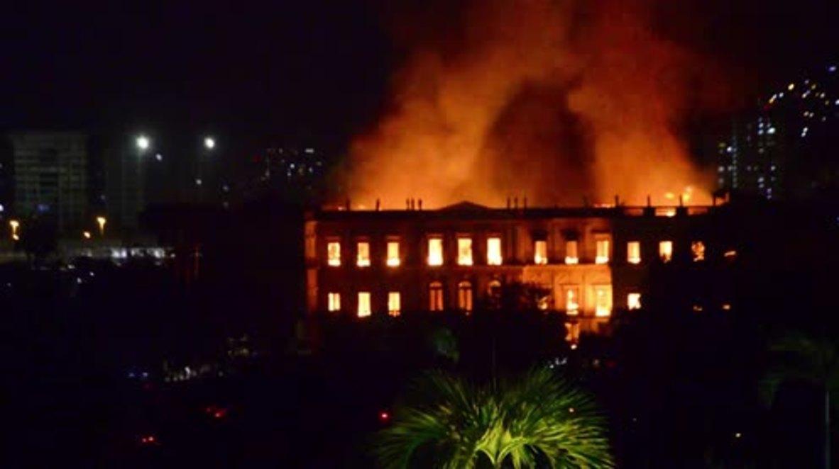 Brasil: Rabia e indignación tras el incendio en el Museo Nacional de Rio de Janeiro, de 200 años de antigüedad
