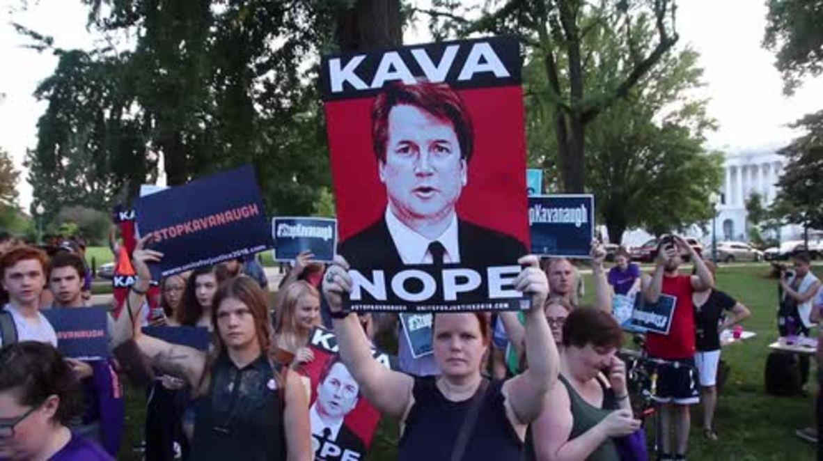 EE.UU.: Protesta contra Breet Kavanaugh, el magistrado nominado por Trump para el Tribunal Supremo