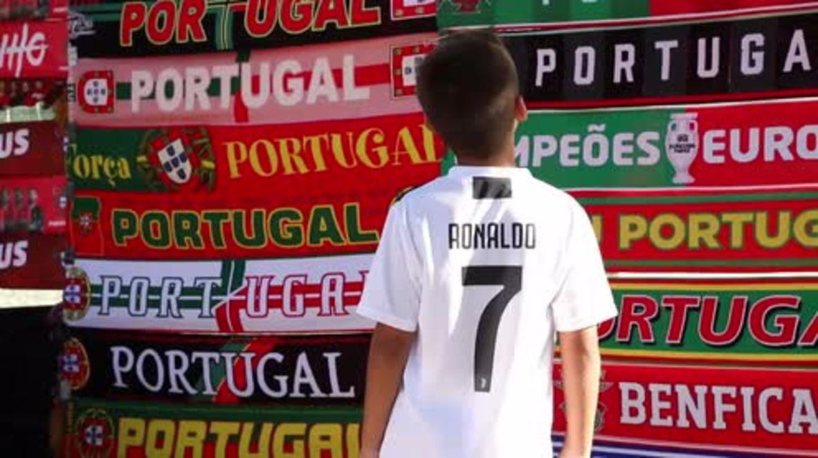 Portugal: Portugal llega para su partido amistoso contra Croacia