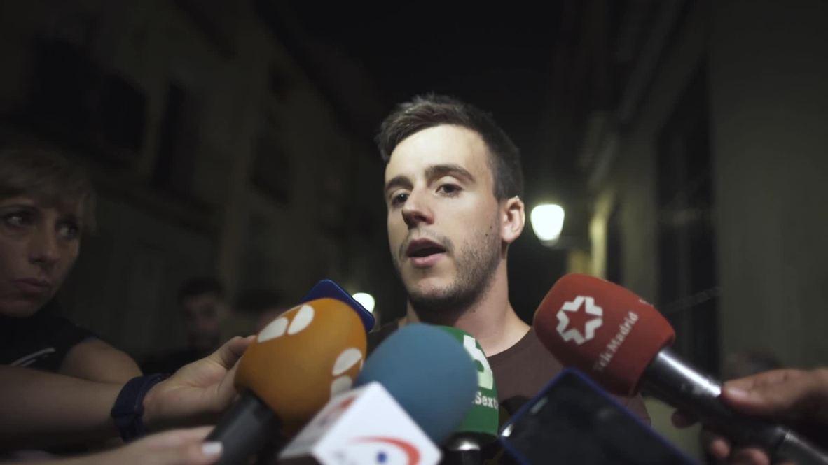 España: Activistas protestan en Madrid por la detención de un actor acusado de BLASFEMIA