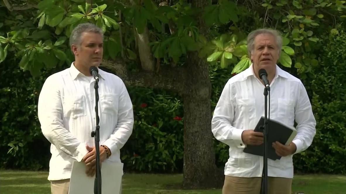 Colombia: Secretario General de la OEA, Iván Duque, responsabiliza a Maduro de la crisis migratoria venezolana