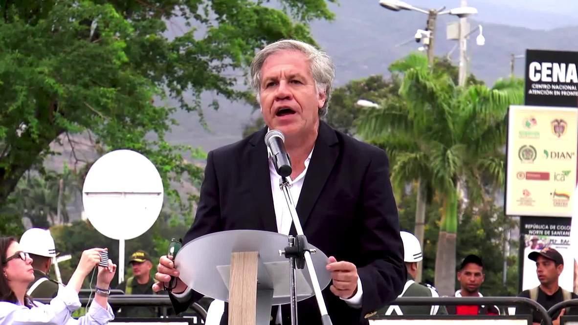 Colombia: OAS Sec-Gen. demands int'l response to Maduro 'dictatorship'