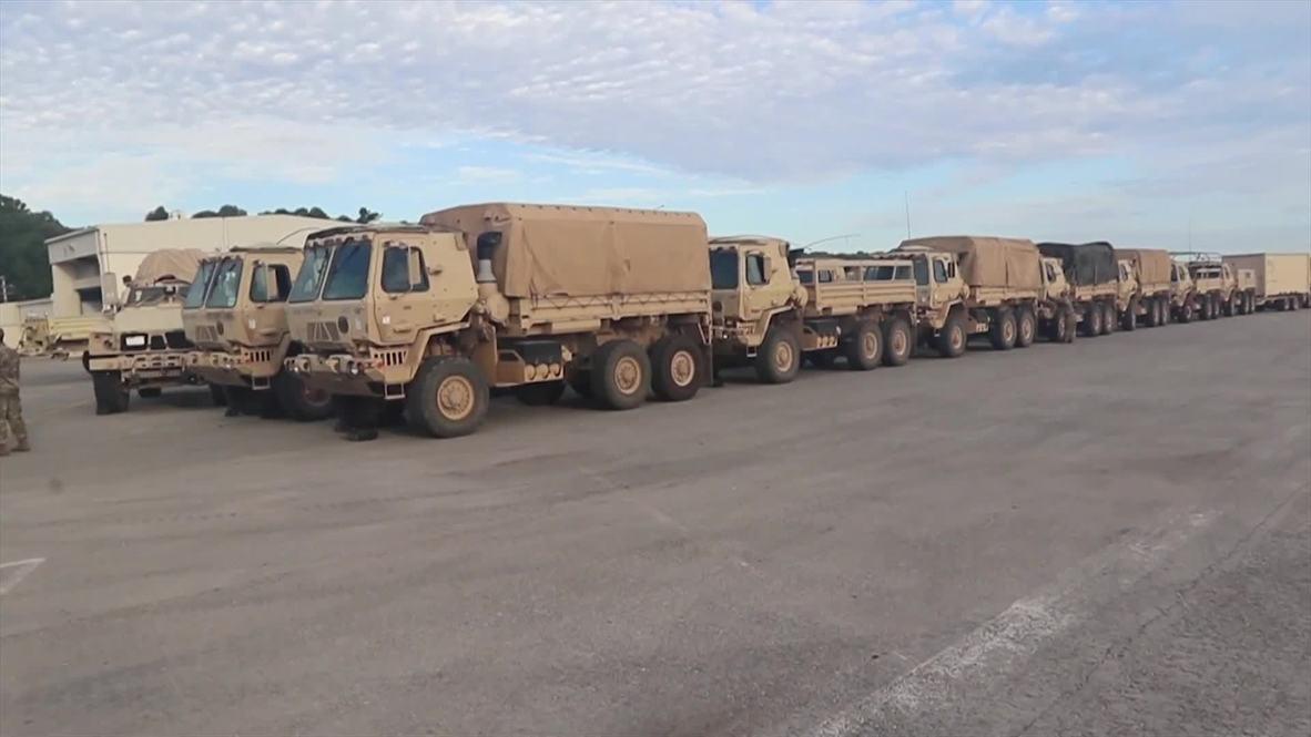 EE.UU.: Varios soldados parten de Fort Campbell para ayudar en las tareas de salvamento del huracán Florence