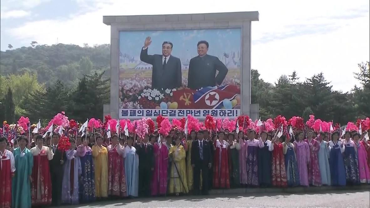 Corea del Norte: Miles de personas abarrotan las calles para saludar a Kim-Jong-un y Moon Jae-in