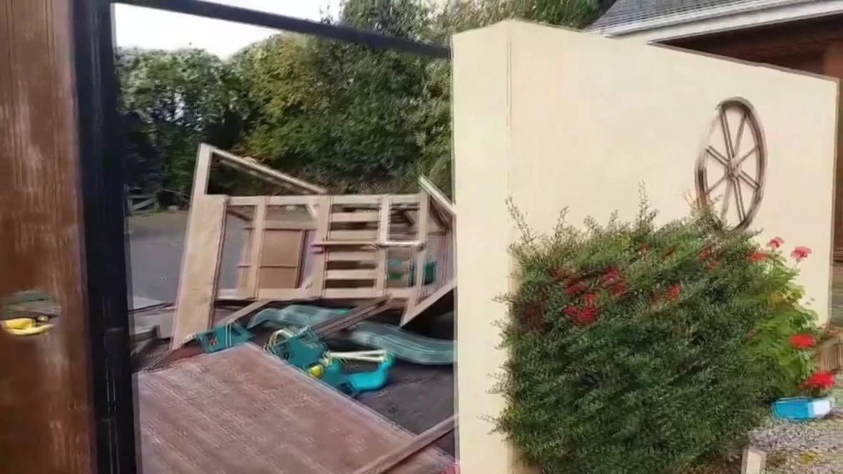 Irlanda: La tormenta Ali desata vientos huracanados de 130 km/h en Irlanda y las islas británicas
