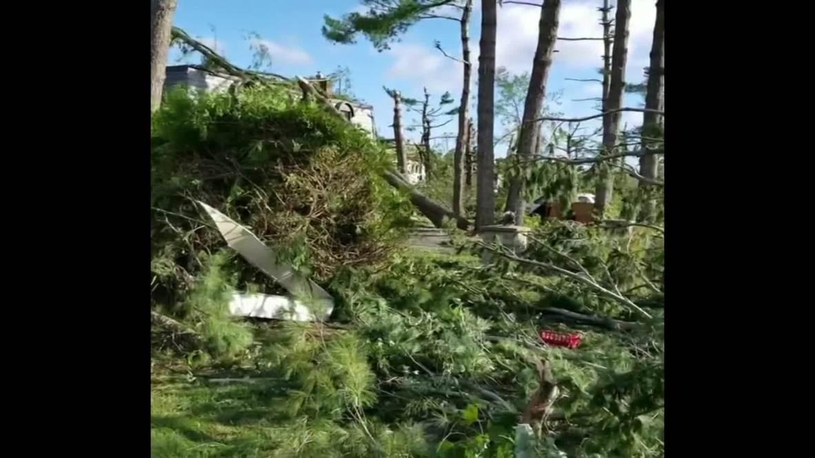 Canada: Homes left damaged after twin tornados tear through Ottawa