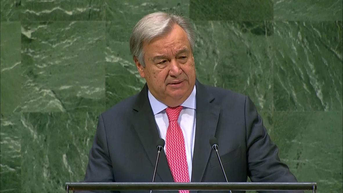 UN: Sec-Gen Guterres warns 'democratic principles are under siege'